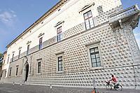 L'esterno del Palazzo dei Diamanti a Ferrara.<br /> Exterior view of the Palazzo dei Diamanti in Ferrara.<br /> UPDATE IMAGES PRESS/Riccardo De Luca
