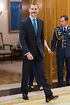 King Felipe VI of Spain receive in audience to permanent commission of the federation of religious entities of Spain at Zarzuela Palace in Madrid, July 27, 2017. Spain.<br /> (ALTERPHOTOS/BorjaB.Hojas)