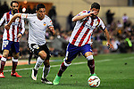 Atletico de Madrid´s Raul Garcia and Valencia CF´s Enzo Perez during 2014-15 La Liga match between Atletico de Madrid and Valencia CF at Vicente Calderon stadium in Madrid, Spain. March 08, 2015. (ALTERPHOTOS/Luis Fernandez)
