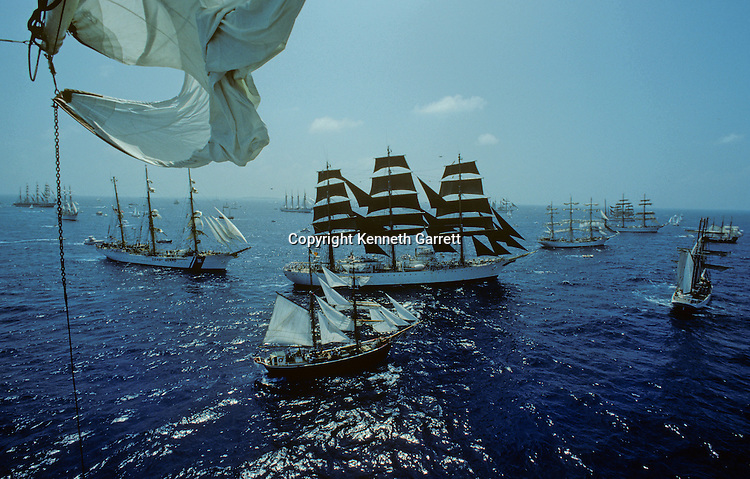 1976; adventure; Atlantic Ocean; cadet training; Dar Pormorza; Operation Sail Tall Ships; Sail race; Sail Training Association; Seamanship; Square Rigger; STA; US Bicentennial