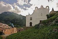 Chiesa Matrice vecchia a Gratteri (XIV sec.) nell'area parco delle Madonie.<br /> &quot;Matrice vecchia&quot; church in Gratteri (13th century) within Madonie natural park.