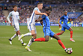 June 13th 2017, Stade de France, Paris, France; International football friendly, France versus England;  PAUL POGBA (fra)  challenged by Gary Cahill (eng)