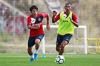 Getafe CF's Gaku Shibasaki (l) and Cata Diaz during training session. August 1,2017.(ALTERPHOTOS/Acero) /NortePhoto.com