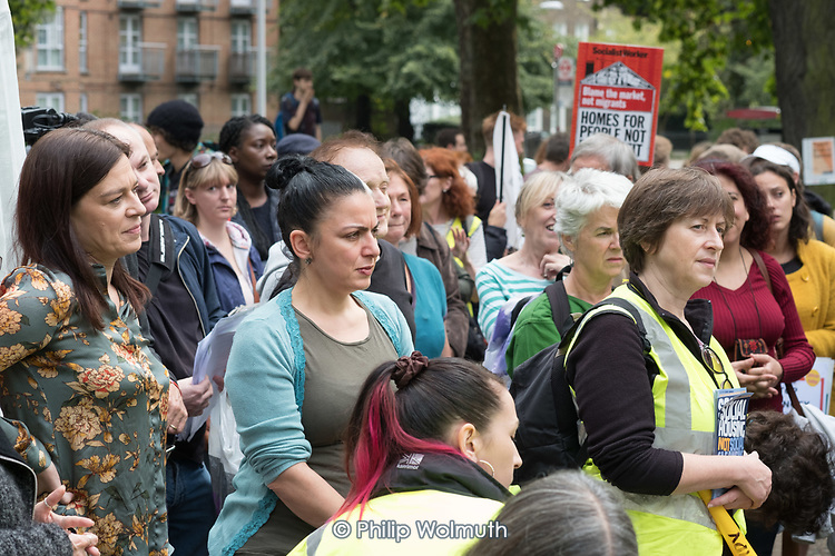 StopHDV protest against proposed privatisation of Haringey council estates, Tottenham, London.