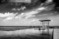 La piscine de l'hôtel Amanyara. Turks and Caicos.