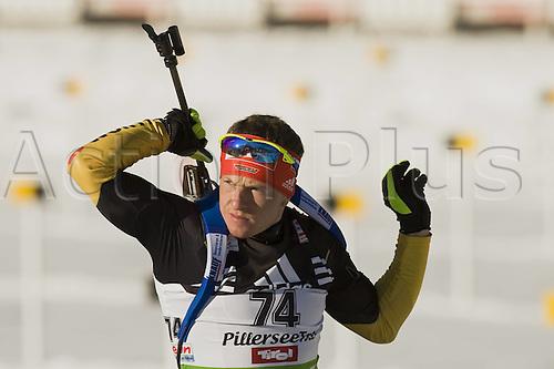09.12.2011, Hochfilzen, Austria. The IBU Biathlon men's 10km Sprint, picture shows  Florian Graf