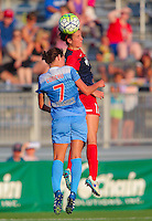 Boyds, MD - Saturday July 09, 2016: Cali Farquharson, Taylor Comeau during a regular season National Women's Soccer League (NWSL) match between the Washington Spirit and the Chicago Red Stars at Maureen Hendricks Field, Maryland SoccerPlex.
