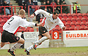 20040327     Copyright Pic : James Stewart.File Name : jspa06_clyde_v_stmirren..JACK ROSS CELEBRATES SCORING CLYDE'S LATE EQUALISER.....James Stewart Photo Agency 19 Carronlea Drive, Falkirk. FK2 8DN      Vat Reg No. 607 6932 25.Office     : +44 (0)1324 570906     .Mobile  : +44 (0)7721 416997.Fax         :  +44 (0)1324 570906.E-mail  :  jim@jspa.co.uk.If you require further information then contact Jim Stewart on any of the numbers above.........