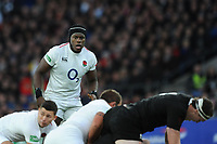 Maro Itoje of England looks on during the Quilter International match between England and New Zealand at Twickenham Stadium on Saturday 10th November 2018 (Photo by Rob Munro/Stewart Communications)