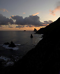 Rocks in the sea, Benijo, Tenerife, Canary Islands.