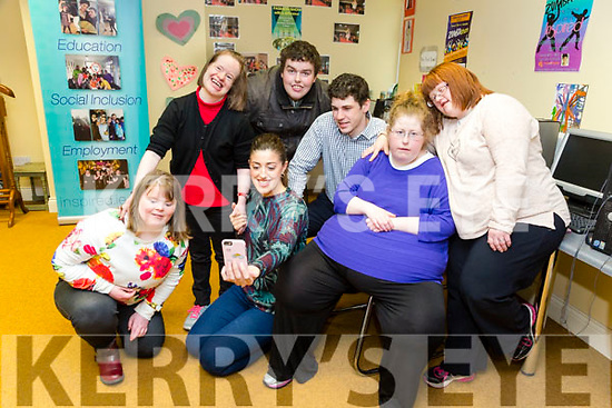 Rosie McGrath and Dominic Rollo Walker winners of Kerins O&rsquo;Rahillys GAA &lsquo;Strictly Come Dancing&rsquo; came to Inspired on Tuesdayan showed them a video of their winning performance as they were their chosen Charity. Pictured with Laghaoise O&rsquo;Connor, Kerry O&rsquo;Mahony, Sinead Joy, Denise O'mahony and Stephen Buckley<br /> <br /> <br /> .