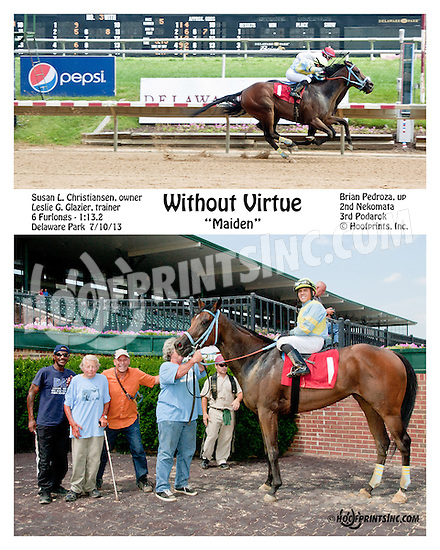 Without Virtue winning at Delaware Park on 7/10/13