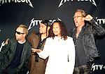 Metallica 2003 Lars Ulrich,Robert Trujillo, Kirk Hammett and James Hetfield at MTV Icons