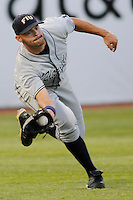 23 April 2008:  Florida International left fielder John Petika (19) makes a dramatic catch early in the FIU 6-3 victory over Miami at Mark Light Field in Coral Gables, Florida.