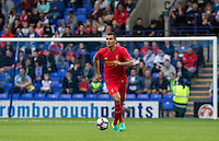 Dejan Lovren of Liverpool on the ball during the 2016/17 Pre Season Friendly match between Tranmere Rovers and Liverpool at Prenton Park, Birkenhead, England on 8 July 2016. Photo by PRiME Media Images.