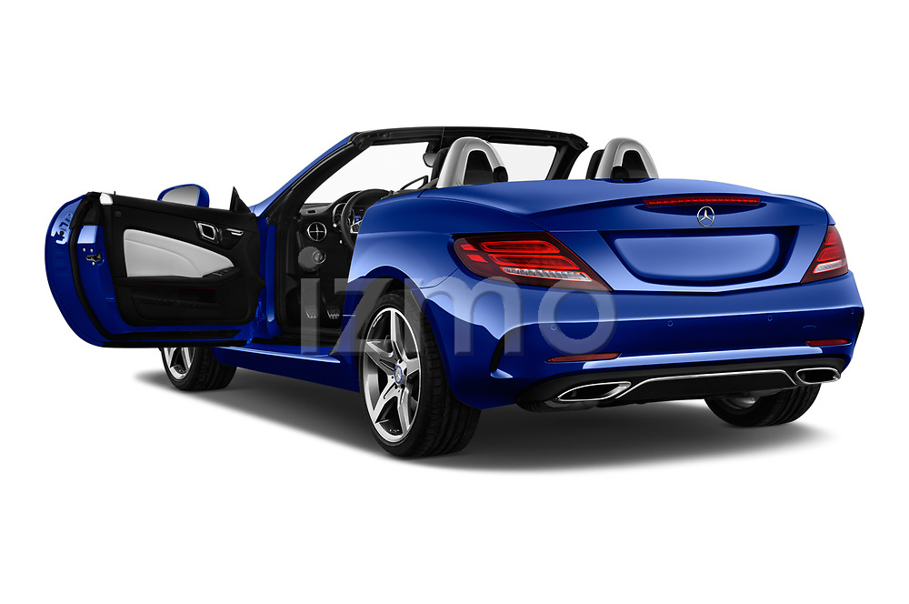 Car images close up view of a 2018 Mercedes Benz SLC AMG Line 2 Door Convertible doors