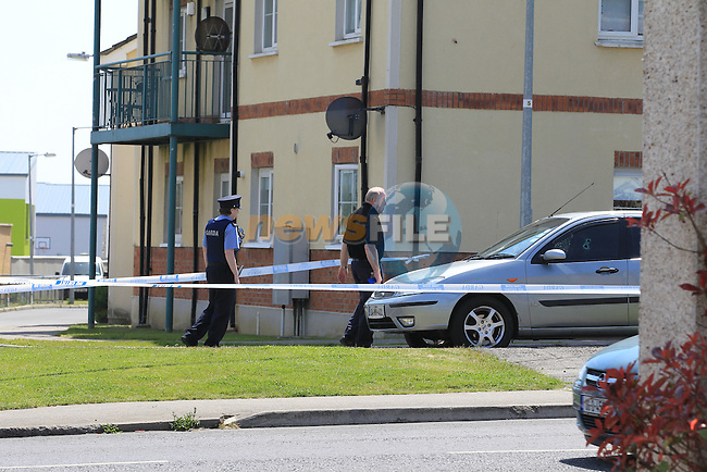 the scene of the shooting in Brackenwood drive in Balbriggan, approx 6 shots went through the car. it is not reported of any injuries at present.<br /> Picture:  Fran Caffrey / www.newsfile.ie