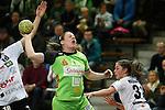 v.li.Lotte Prak (Vulkan-Ladies Koblenz/Weibern), Maike Daniels (Frisch Auf Goeppingen Frauen) und Kelly Vollebregt (Vulkan-Ladies Koblenz/Weibern)<br />  im Spiel TPSG FA Goeppingen - VL Koblenz / Weibern.<br /> <br /> Foto &copy; P-I-X.org *** Foto ist honorarpflichtig! *** Auf Anfrage in hoeherer Qualitaet/Aufloesung. Belegexemplar erbeten. Veroeffentlichung ausschliesslich fuer journalistisch-publizistische Zwecke. For editorial use only.