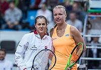 Bratislava, Slovenia, April 23, 2017,  FedCup: Slovakia-Netherlands,First rubber sunday,  Cepelova vs Bertens (R)<br /> Photo: Tennisimages/Henk Koster