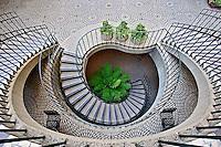 Spiral stairway, Embarcadero Center, San Francisco, California