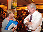 Celia Larkin interviews Martin McGuinness at the Sinn Fein Ard Fheis in the INEC, Killarney. Photo: Don MacMonagle