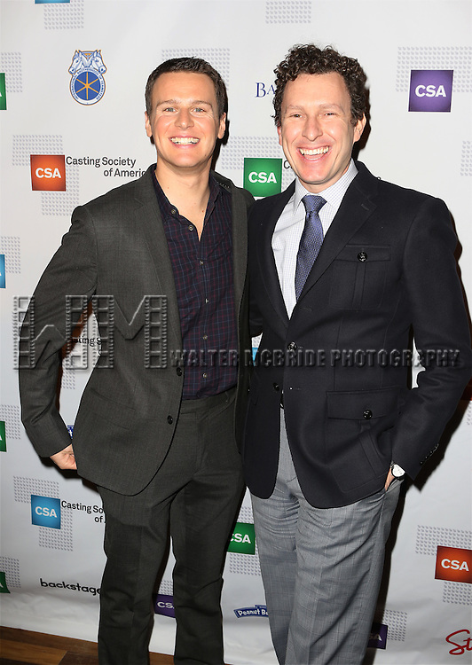 Jonathan Groff and Jacob Langfelder attends the 30th Annual Artios Awards at 42 WEST on January 22, 2015 in New York City.