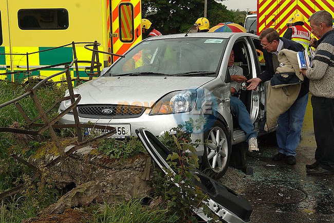 Scene of a road traffic accident involving 2 Ford Fiestas at Mounthanover cross near Duleek County Meath. Photo: Colin Bell / Newsfile