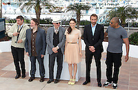 .../Writer Thomas Bidegain, actor Bouli Lanners, director Jacques Audiard, actress Marion Cotillard, actor Matthias Schoenaerts and actor Jean-Michel Correia pose at the 'De Rouille et D'os' Photocall during the 65th Annual Cannes Film Festival at Palais des Festivals on May 17, 2012 in Cannes, France.  .. Credit: Palme2012/ News Pictures/MediaPunch Inc. ***FOR USA ONLY***