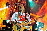 Zoltan Bathory of Five Finger Death Punch perform during the Trespass America Festival at Jacobs Pavilion at Nautica in Cleveland, Ohio.