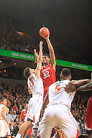 during the game Jan. 7, 2015, in Charlottesville, Va. Virginia defeated NC State  61-51.