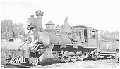 Fireman's-side 3/4 view of RGS 2-8-0 #40 at Ridgway.<br /> RGS  Ridgway, CO  Taken by Hanft, Robert M. - 8/30/1938