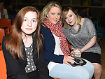 Shauna Curaton, Rebecca Cunningham and Gemma Taaffe pictured at the Brendan McCahey show in Ardee Parish Centre. Photo:Colin Bell/pressphotos.ie