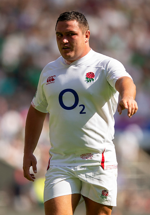 England's Jamie George<br /> <br /> Photographer Bob Bradford/CameraSport<br /> <br /> Quilter Internationals - England v Ireland - Saturday August 24th 2019 - Twickenham Stadium - London<br /> <br /> World Copyright © 2019 CameraSport. All rights reserved. 43 Linden Ave. Countesthorpe. Leicester. England. LE8 5PG - Tel: +44 (0) 116 277 4147 - admin@camerasport.com - www.camerasport.com