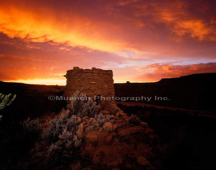 """School House Ruin, Largo Canyon   NEW MEXICO"""