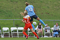 Piscataway, NJ - Saturday July 09, 2016: Kristin Grubka, Kealia Ohai during a regular season National Women's Soccer League (NWSL) match between Sky Blue FC and the Houston Dash at Yurcak Field.