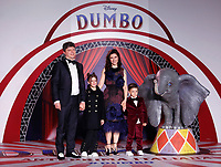 Singer Elisa who sang the soundtrack of Dumbo with her family<br /> Rome March 26th 2019. Premiere of the movie 'Dumbo' directed by Tim Burton<br /> photo di Samantha Zucchi/Insidefoto