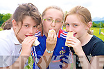 Cooling down at the ice cream day in aid of Downs Syndrome at Loretto National school on Thursday were Saoirse O'Connor, Shannon O'Shea and Emily Cronin...