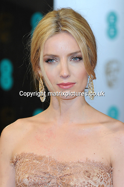 NON EXCLUSIVE PICTURE: PAUL TREADWAY / MATRIXPICTURES.CO.UK.PLEASE CREDIT ALL USES..WORLD RIGHTS..English actress Annabelle Wallis attending the 2013 EE British Academy Film Awards, at London's Royal Opera House...FEBRUARY 10th 2013..REF: PTY 13945