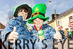 Cody and Calvin O'Sullivan at Tralee Saint Patrick's day parade on Tuesday.