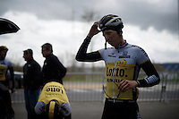 Sep Vanmarcke (BEL/LottoNL-Jumbo) after the Ronde van Vlaanderen 2016 recon at the finish in Oudenaarde