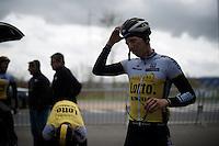 Sep Vanmarcke (BEL/LottoNL-Jumbo) after the Ronde van Vlaanderen 2016 recon at the finish in Oudenaarde