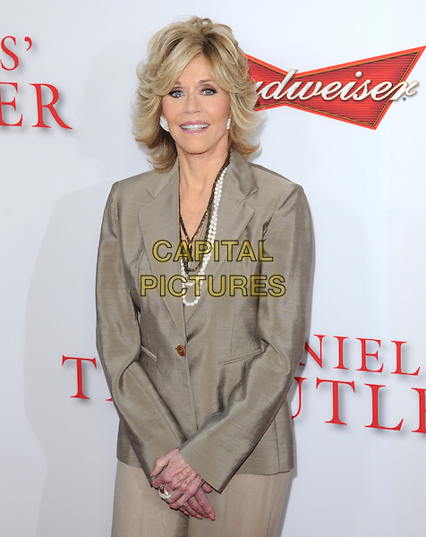 Jane Fonda<br /> &quot;Lee Daniels' The Butler&quot; Los Angeles Premiere held at Regal Cinemas L.A. Live, Los Angeles, California, USA.        <br /> August 12th, 2013    <br /> half length beige blazer <br /> CAP/DVS<br /> &copy;DVS/Capital Pictures