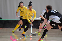 Malaysia's Nurfarah Syahira Binti Md Yusof in action during the World Floorball Championships 2017 Qualification for Asia Oceania Region - New Zealand v Malaysia at ASB Sports Centre , Wellington, New Zealand on Saturday 4 February 2017.<br /> Photo by Masanori Udagawa<br /> www.photowellington.photoshelter.com.