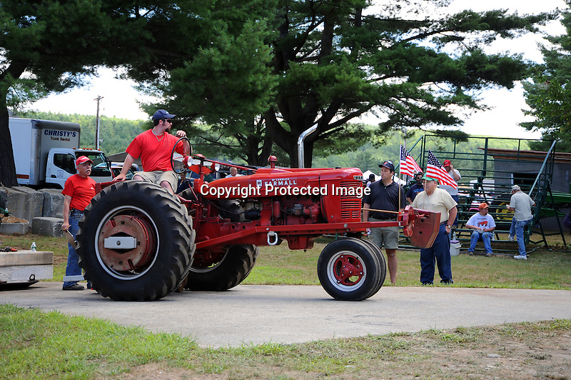Farm tractor pull at Cheshire Fair in Swanzey, New Hampshire USA