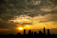 07/04/09 - The setting sun creates a brilliant sky over the Charlotte, North Carolina, skyline. New skyscrapers and highrise buildings pop up on the skyline each year, changing the look of this popular Southern city. Charlotte Photographer Patrick Schneider has an extensive gallery of Charlotte skyline photography. See more at http://pa.photoshelter.com/c/patrickschneider/gallery/Charlotte-Skyline-Photos/G0000hrADf9pmHvk/.