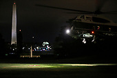 Marine One carrying United States President Donald J. Trump lands on the South Lawn of the White House after delivering remarks at a Make America Great Again Rally in Macon, Georgia and Chattanooga, Tennessee on November 4, 2018 in Washington, DC.<br /> Credit: Oliver Contreras / Pool via CNP