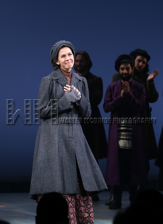 Jessica Hecht during the Broadway Opening Night Performance Curtain Call bows for 'Fiddler On The Roof'  at the Broadway Theatre on December 20, 2015 in New York City.