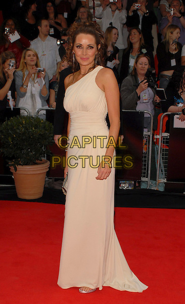 CAROL VORDERMAN.Arrivals at the Pioneer British Academy Television Awards 2006 at the Grosvenor House Hotel, London, UK..May 7th, 2006 .Ref: CAN.BAFTA TV.full length beige one shoulder dress .www.capitalpictures.com.sales@capitalpictures.com.©Capital Pictures