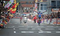 Liège-Bastogne-Liège 2013..winner: Dan Martin (IRL) crossing the finishline