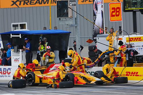 Verizon IndyCar Series<br /> Iowa Corn 300<br /> Iowa Speedway, Newton, IA USA<br /> Sunday 9 July 2017<br /> Ryan Hunter-Reay, Andretti Autosport Honda<br /> World Copyright: Phillip Abbott<br /> LAT Images<br /> ref: Digital Image abbott_iowa_0717_5359